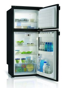 Vitri DP2600 Black 2 Door Fridge/Freezer